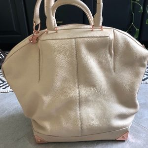 Alexander Wang Emile tote in cream with rose gold